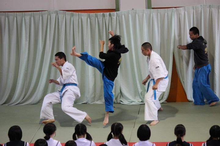 豊田大谷高校のオープンスクールでの演武